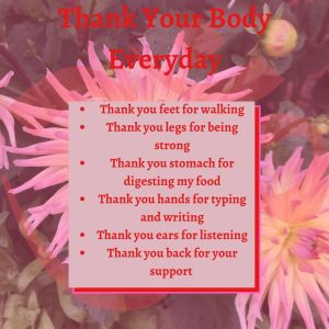 Thank your body every day